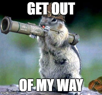 Image result for get out of the way